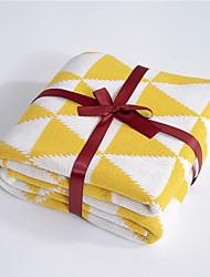 abordables -Couvertures Multifonctionnelles, Couleur Pleine / Tartan / Classique Tricot / Coton Réchauffeur Frange Doux couvertures