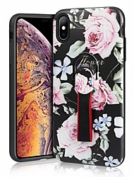 cheap -Case For Apple iPhone XR / iPhone XS Max Shockproof / Ring Holder Back Cover Flower Hard Silica Gel for iPhone XS / iPhone XR / iPhone XS Max