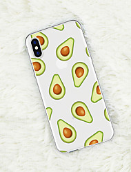 Недорогие -Кейс для Назначение Apple iPhone XS / iPhone XR / iPhone XS Max С узором Кейс на заднюю панель Продукты питания / Фрукты Мягкий ТПУ