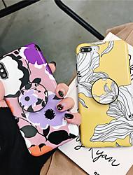 Недорогие -Кейс для Назначение Apple iPhone XS / iPhone XR / iPhone XS Max со стендом / Ультратонкий / С узором Кейс на заднюю панель Цветы Мягкий ТПУ