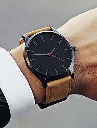 cheap -Men's Dress Watch Quartz Leather Black / Brown 30 m Water Resistant / Waterproof Creative New Design Analog Classic - White Black Brown