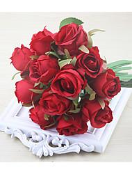 halpa -Keinotekoinen Flowers 1 haara Klassinen Häät Hääkukat Ruusut Eternal Flowers Pöytäkukka
