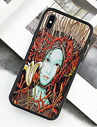 preiswerte -Hülle Für Apple iPhone X / iPhone XS Muster Ganzkörper-Gehäuse Ölgemälde Hart Acryl für iPhone XS / iPhone XR / iPhone X