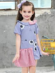 Χαμηλού Κόστους -Παιδιά Κοριτσίστικα Συνδυασμός Χρωμάτων Πολυεστέρας Φόρεμα Θαλασσί