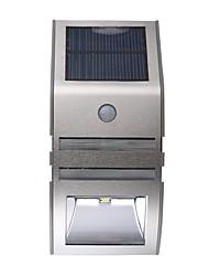 billige -1pc 1 W Solar Wall Light Vanntett / Solar / Infrarød sensor Varm hvit / Kjølig hvit 3.7 V Utendørsbelysning / Courtyard / Have 2 LED perler