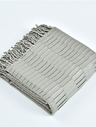 abordables -Mantas multifuncionales, Un Color / Simple / Clásico Fibra de acrílico Calentador Borla Suave mantas
