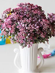 お買い得  -人工花 5 ブランチ クラシック ステージ用小道具 田園 スタイル 植物 テーブルトップフラワー