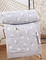 baratos -Confortável - 1 Cobertura de Cama Primavera / Verão Algodão Floral / Estampa Colorida / Cores Variadas