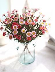 abordables -Fleurs artificielles 1 Une succursale Simple Rustique style pastoral Marguerites Fleur de Table