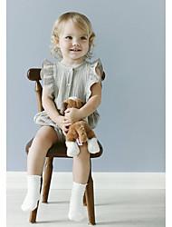 tanie -Dziecko Dla chłopców Podstawowy Solidne kolory Wielowarstwowy Bez rękawów Bawełna / Len Body Szary