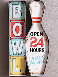 levne -Jídlo a pití Wall Decor Kov Evropský Wall Art, Kovové nástěnné umění Dekorace