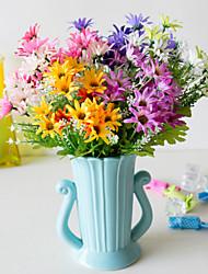 Χαμηλού Κόστους -Ψεύτικα λουλούδια 5 Κλαδί Κλασσικό Αξεσουάρ Στολής Ποιμενικό Στυλ Μαργαρίτες Αιώνια Λουλούδια Λουλούδι για Τραπέζι