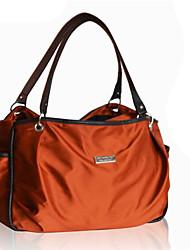 저렴한 -나일론 한 색상 기저귀 가방 지퍼 한 색상 블랙 / 오렌지 / 커피