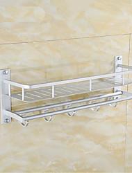 halpa -Pyyhetanko / Vaatekoukku / Kylpyhuonehylly Monikerroksinen / Ihana / Tyylikäs Nykyaikainen / Moderni Alumiini 1kpl - Kylpyhuone Double Seinäasennus