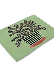 お買い得  -コンテンポラリー 不織の 方形 プレイスマット パターン柄 エコ テーブルデコレーション 1 pcs