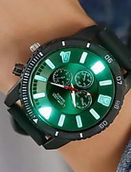 Недорогие -Муж. электронные часы Цифровой силиконовый Черный / Белый / Синий Творчество Новый дизайн Фосфоресцирующий Аналоговый Блестящие На каждый день - Красный Зеленый Синий