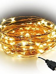 abordables -10m Guirlandes Lumineuses 100 LED SMD 0603 Blanc Chaud / Blanc / Rouge Découpable / Soirée / Décorative 5 V