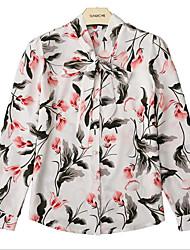 billige -Dame - Geometrisk Trykt mønster Skjorte