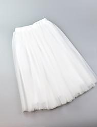 Недорогие -Нижняя юбка пачка Под юбкой 1950-е года Розовый Цвет фуксии Чернильный синий Нижняя юбка / Кринолин