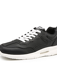 cheap -Men's Comfort Shoes PU(Polyurethane) Spring & Summer Sporty Athletic Shoes Running Shoes Wear Proof White / Black