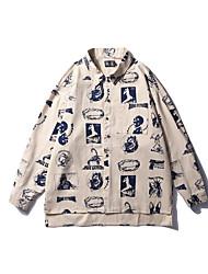 cheap -men's cotton slim shirt - graphic classic collar