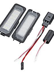 Недорогие -2pcs Автомобиль Лампы 18 Подсветка для номерного знака Назначение Volkswagen / Porsche / Passat Lupo / Polo / Eos Все года