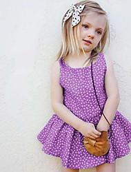 זול -שמלה ללא שרוולים גיאומטרי בנות תִינוֹק