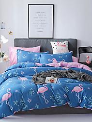 preiswerte -Bettbezug-Sets Luxus / Cartoon Design / Zeitgenössisch Polyester Bedruckt 4 StückBedding Sets