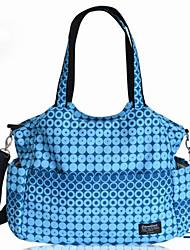 رخيصةأون -البوليستر حقيبة حفاضات سحاب برتقالي / أزرق سماوي