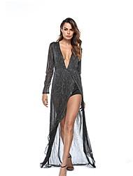 baratos -Mulheres balanço Vestido Sólido Médio