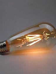 Недорогие -1шт 4 W LED лампы накаливания 360 lm E26 / E27 ST64 4 Светодиодные бусины COB Диммируемая Тёплый белый 220-240 V 110-130 V