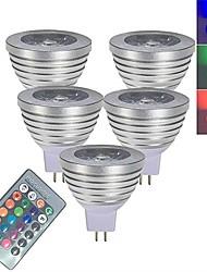 Недорогие -5 шт. 3 W Точечное LED освещение Умная LED лампа 250 lm MR16 1 Светодиодные бусины SMD 5050 Smart Диммируемая На пульте управления RGBW 12 V / RoHs