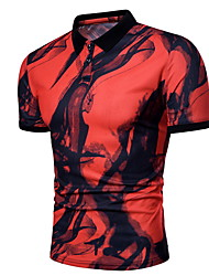 billiga -Mäns slanka t-shirt - färgblock rund hals
