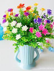 abordables -Fleurs artificielles 5 Une succursale Classique Accessoires de Scène style pastoral Plantes Lotus Fleurs éternelles Fleur de Table