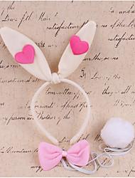 billige -Rabbit Mascot påskeharen Ører Pannebånd Barne Jente Cosplay Påske Festival / høytid Tøy Hvit / Rosa / Fuksia Karneval Kostumer Lapper