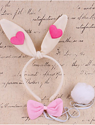 povoljno -Rabbit Maskota Uskršnji zeko Uši Traka za kosu Dječji Djevojčice Cosplay Uskrs Festival / Praznik Tekstil Obala / Pink / Fuschia Karneval kostime Kolaž