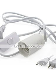 cheap -1pc EU Plug to E27 E26 / E27 110-240 V Bulb Accessory / US / EU Plastic Light Bulb Socket