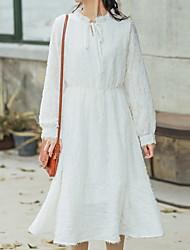 זול -מידי שרוכים לכל האורך, אחיד - שמלה גזרת A בסיסי בגדי ריקוד נשים