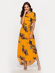 저렴한 -여성용 칼집 드레스 - 플로럴 맥시