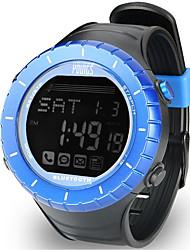 Недорогие -Жен. Спортивные часы На открытом воздухе Мода Черный Pезина Японский Цифровой Синий Защита от влаги Smart Bluetooth 100 m 1 комплект Цифровой Один год Срок службы батареи / ЖК экран