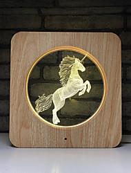 Недорогие -1 шт. Единорог мультфильм творческий светодиодный ночник с изменением цвета батареи AAA питание от USB легко носить с собой<=36 v