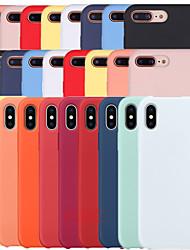 Недорогие -Кейс для Назначение Apple iPhone XS / iPhone XR / iPhone XS Max Защита от удара Чехол Однотонный Мягкий Силикон