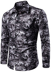 economico -camicia da uomo - collo della camicia tribale