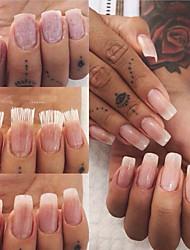 voordelige -1pack Tips voor kunstmatige nagels Ergonomisch Ontwerp / Noviteit / Duurzaam White Series Nagel kunst Manicure pedicure Bamboe Vezel Punk / Frans Dagelijks / Black tie gala / Festival