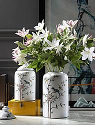 abordables -Fleurs artificielles 3 Une succursale Classique Traditionnel / Classique Style Simple Lotus Fleurs éternelles Fleur de Table