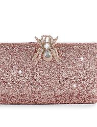 Недорогие -Жен. Мешки Сплав Вечерняя сумочка Пуговицы / Кристаллы Сплошной цвет Цвет шампанского