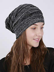 Недорогие -Универсальные Активный Классический Симпатичные Стиль Широкополая шляпа Акрил,Однотонный Осень Зима Коричневый Черный Светло-серый
