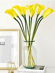 Недорогие -Искусственные Цветы 1 Филиал Классический Сценический реквизит Свадьба Калла Вечные цветы Букеты на стол