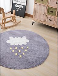 abordables -Carpettes Moderne Pur coton, Rondes Qualité supérieure Couverture