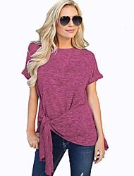 hesapli -Kadın ab / us beden tişört - düz renkli yuvarlak boyun